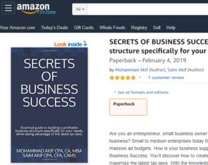 Amazon- Secrets of Business Success