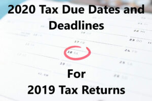 2020 Tax Due Dates