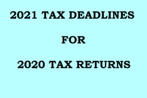 2021 Tax Due Dates